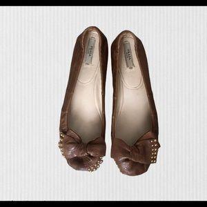 PRADA bow tie women's ballerina flats